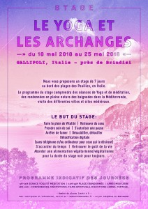 Poster Stage LE YOGA ET LES ARCHANGES